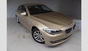 BMW 520d 5 series gold colour car - pic.1